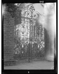Wrought Iron Gate of St. Michael's Churc... by Genthe, Arnold