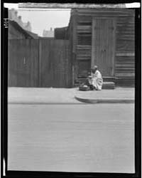 Woman Sitting on Steps Holding a Basket,... by Genthe, Arnold
