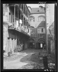 Courtyard, New Orleans, Photograph 7A034... by Genthe, Arnold