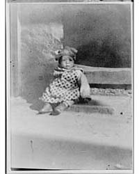 Small Child Sitting on a Doorstep, China... by Genthe, Arnold