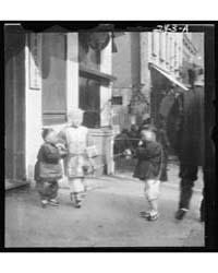 Three Children Standing on a Sidewalk, C... by Genthe, Arnold