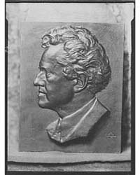 Portrait Relief Sculpture of Arnold Gent... by Genthe, Arnold
