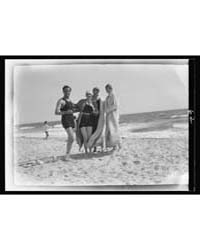 Group of People at Long Beach, New York,... by Genthe, Arnold