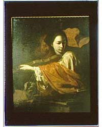 Photograph of a Painting of Saint Cecili... by Genthe, Arnold