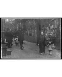 Woman and a Child Walking Down a Street,... by Genthe, Arnold