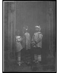 Three Girls Standing in a Doorway, China... by Genthe, Arnold
