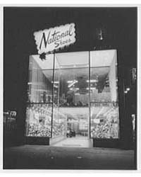 National Shoes, Business at 42Nd St., Ne... by Schleisner, Gottscho