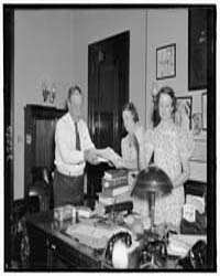 Sen. Ed Smith & Office Staff, Photograph... by Harris & Ewing
