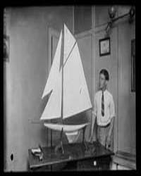 Model Sailboat, Photograph Number 32485V by Harris & Ewing