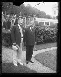 Herbert Hoover, Left, Outside White Hous... by Harris & Ewing