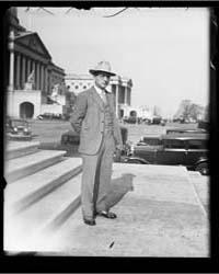 Man at U.S. Capitol. Washington, D.C., P... by Harris & Ewing