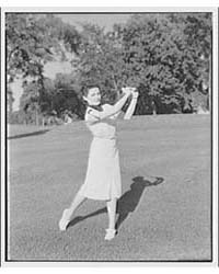 Golf. Woman Playing Golf Ii, Photograph ... by Horydczak, Theodor
