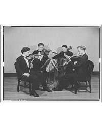 String Quartet. Quartet Seated Playing I... by Horydczak, Theodor