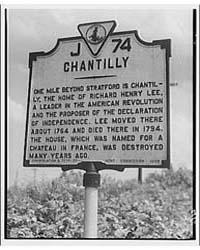 Stratford Hall. Land Marker of Chantilly... by Horydczak, Theodor