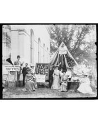 County Fair, Tintype Booth of Miss. F.B.... by Johnston, Frances Benjamin