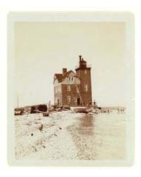 View of Lighthouse from Beach, Duluth, M... by Johnston, Frances Benjamin