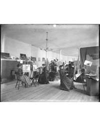 Women Painting at Easels in a Class at t... by Johnston, Frances Benjamin