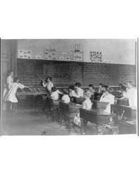 Elementary School Children Studying Map ... by Johnston, Frances Benjamin