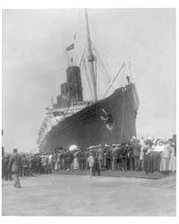 Lusitania Arriving in N.Y. for First Tim... by Johnston, Frances Benjamin
