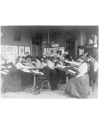 Students Drawing in an Art Class, Wester... by Johnston, Frances Benjamin