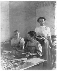Three Women Working in Shoe Factory, Lyn... by Johnston, Frances Benjamin