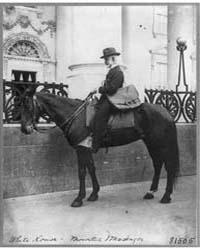 A Messenger Beckley on Horseback in Fron... by Johnston, Frances Benjamin