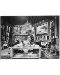 Library in Hearst Home, Photograph Numbe... by Johnston, Frances Benjamin