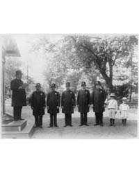 Police Roll Call Inspection at the White... by Johnston, Frances Benjamin