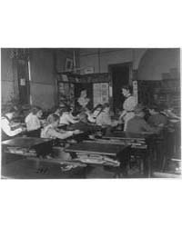 Classroom with Students and Teacher, Was... by Johnston, Frances Benjamin