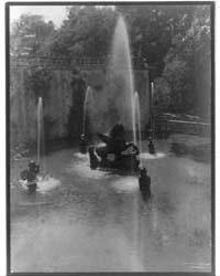 Fountain, Villa Laute, Viterbo, Italy, P... by Johnston, Frances Benjamin