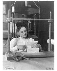 Woman Doing Bookbinding at Roycroft Shop... by Johnston, Frances Benjamin
