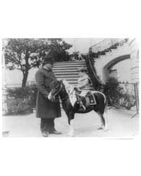 Quentin Roosevelt on Pony Beside White H... by Johnston, Frances Benjamin