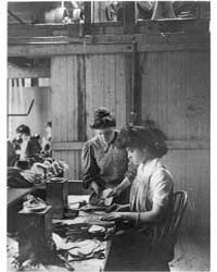 Shoe Factories, Lynn, Mass.: 2 Women Wor... by Johnston, Frances Benjamin
