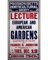 Lecture, European and American Gardensby... by Johnston, Frances Benjamin