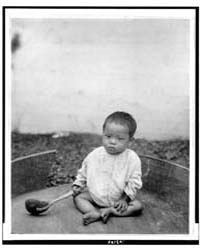 Asian Baby Seated Holding Spoon or Ladle... by Johnston, Frances Benjamin