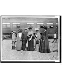 Group of People Posed with Railroad Car ... by Johnston, Frances Benjamin