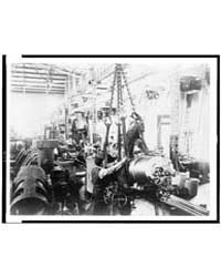 Getting Ready to Hoist a Mounted Gun, in... by Johnston, Frances Benjamin