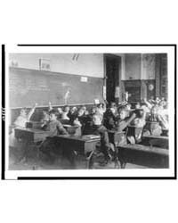 Children Seated at Desks in Washington, ... by Johnston, Frances Benjamin