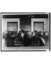 Group Portrait of Teacher and Students a... by Johnston, Frances Benjamin