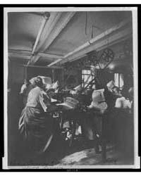 Women Perforating Sheets of Stamps in th... by Johnston, Frances Benjamin
