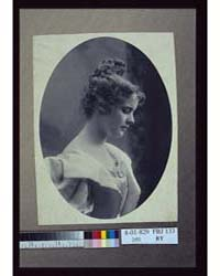 Young Woman, Facing Right, Head Shoulder... by Davis & Sanford