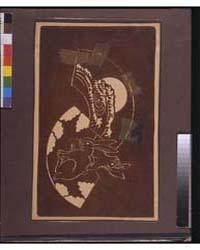 Katagami Stencil with Rabbits and a Moon... by Johnston, Frances Benjamin