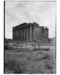 Baalbek. Temple of Bacchus. from the N.W... by American Colony Jerusalem