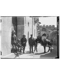 British Soldiers with Lewis Guns Inside ... by American Colony Jerusalem