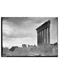 Baalbek. Temple of Jupiter. Sunset Effec... by American Colony Jerusalem
