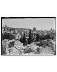 Jerusalem with Mosque on Horizon from El... by American Colony Jerusalem