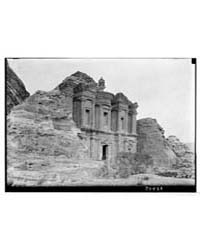 Petra. Ed Deir. Side View from N.W., Pho... by Matson Photo Service