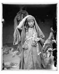 Old Bedouin Woman, Photograph 06834V by American Colony Jerusalem