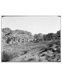 Petra. Panorama of Tombs on the East in ... by American Colony Jerusalem