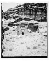 Petra. Tomb with Three Urns, Photograph ... by American Colony Jerusalem